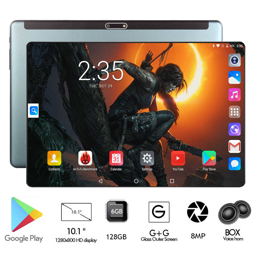 2020 הכי חדש 3G 4G FDD LTE 10 אינץ אוקטה Core tablet pc 6GB RAM 128GB ROM dual SIM כרטיסי 1280x800 IPS אנדרואיד 9.0 WIFI Bluetooth