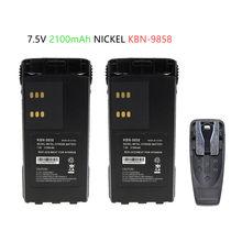 2x kbn 9858 2100 мА/ч замена Батарея motorola xts2500 pr1500
