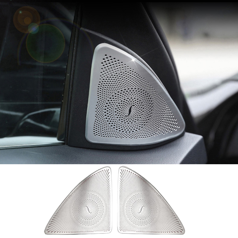 Car styling stainless steel Audio Speaker Door Loudspeaker Trim Covers Stivkers For <font><b>Mercedes</b></font> Benz <font><b>S</b></font> <font><b>class</b></font> S320 S350 <font><b>W222</b></font> image
