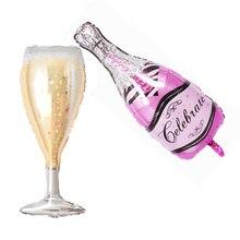 Bottle-Shaped Balloon Happy-Birthday-Party Wedding-Anniversary Champagne 2pcs/Set