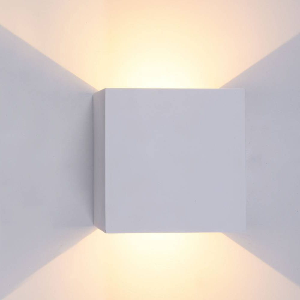 6W Up Down Dimmable LED Aluminium Wall Light Square LED Wall Lamp For Bedside Bedroom Living Room Corridor Aside Lighting B6 PRO