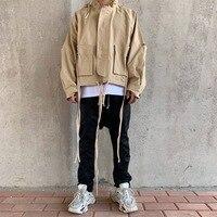 Ambush Windbreaker Men Women Pullovers Jackets Hiphop Zipper Khaki Hooded Men Windproof Cotton Jacket Coats Men