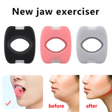 Fitness rosto massagista masculino facial pop n go boca jawline maxila músculo exercitador mastigar bola mordida disjuntor treinamento