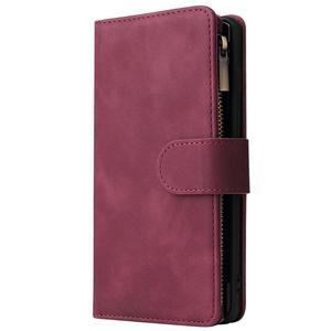 Image 3 - Luxe Zipper Wallet Card Case Voor Samsung Galaxy S10 S20 S9 S8 Plus S10e Note 9 10 Pro Flip Cover stand Multi Slots