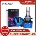F3 комплект автомобильных светодиодных фар H4 9003 H7 H8 H9 H11 9005 9006 HB3/4 9012 HIR2 H1 G-XP чипы Противотуманные огни Canbus без ошибки 90W 20000LM HLXG