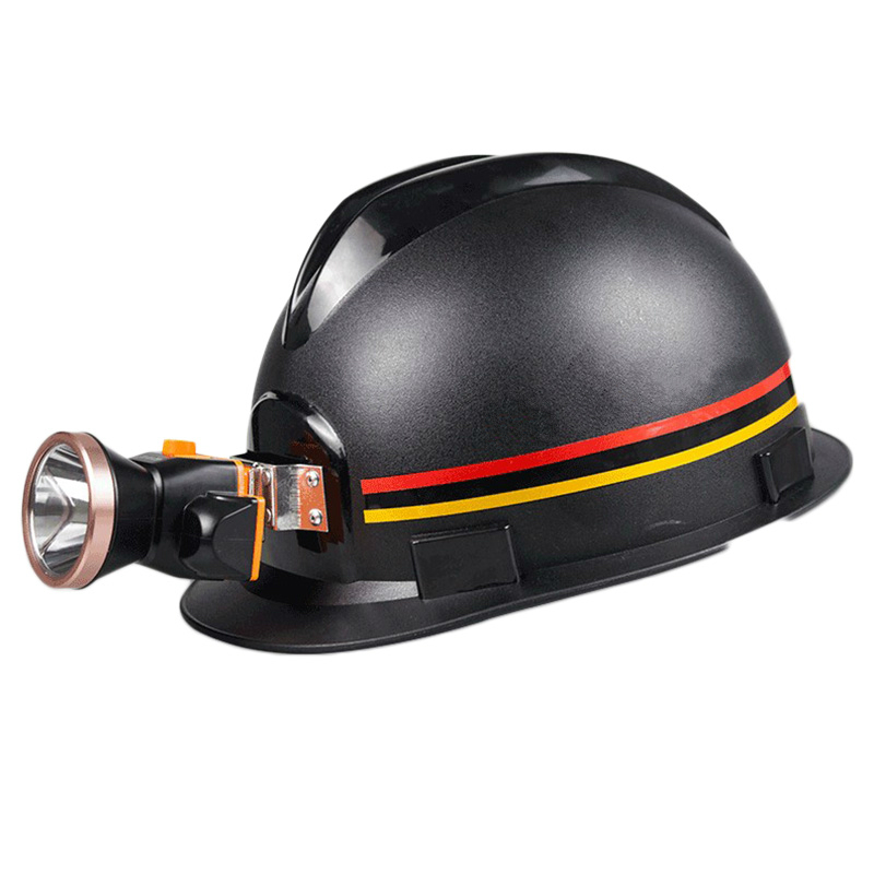 ANPWOO Miners Helmet with Charging Headlights ABS material Anti-piercing Safety Helmet Construction Working Hard Hat