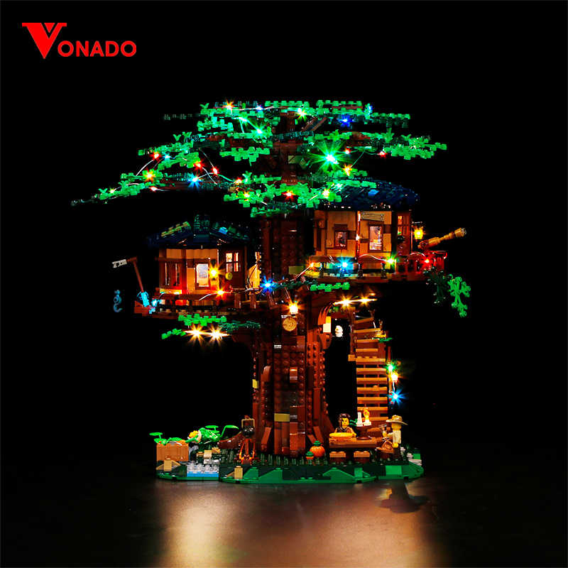Vonado For LEGO ideas Creative 21318 Tree House Light Boys And Girls Assembled Building Blocks Children's Educational Toys Gift