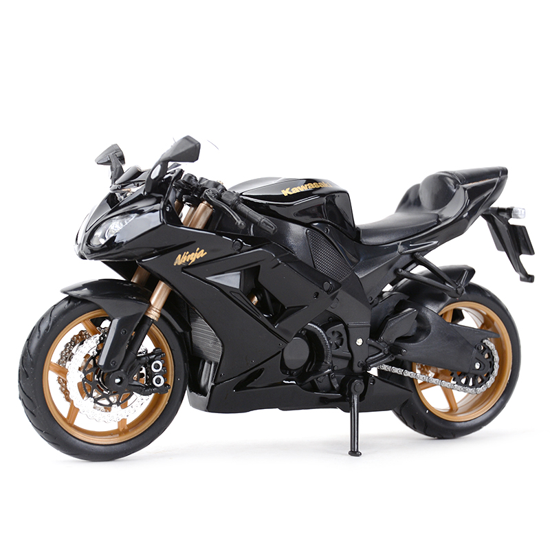 Maisto 1:12 Kawasaki Ninja ZX-10R Black Diecast Alloy Motorcycle Model Toy
