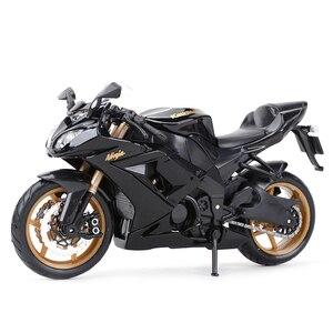 Image 1 - Maisto 1:12 kawasaki ninja ZX 10R preto morrer cast veículos colecionáveis hobbies motocicleta modelo brinquedos