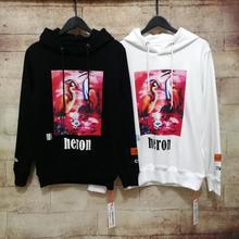Heron Preston Hoodies Men Women Stranger Things Sweatshirt Oversize Streetwear Embroidery HP Pullover Hoodie