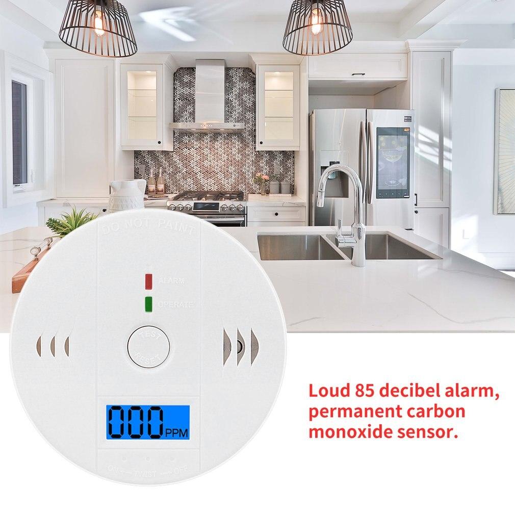 CO Gas Sensor Detector Carbon Monoxide Poisoning Alarm Detector LCD Photoelectric Independent 85dB Warning High Sensitive Senor