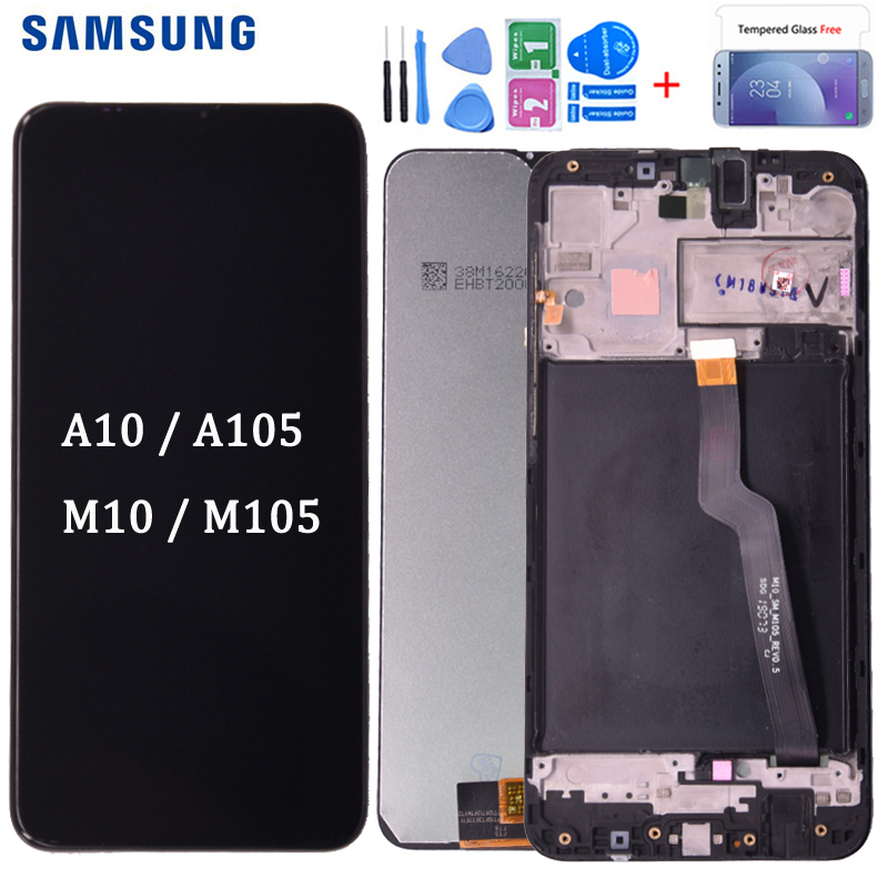 Original For <font><b>SAMSUNG</b></font> A10 Display Touch Screen Digitizer Replacement For <font><b>Samsung</b></font> Galaxy A10 <font><b>M10</b></font> <font><b>LCD</b></font> A105 A105/DS M105 image