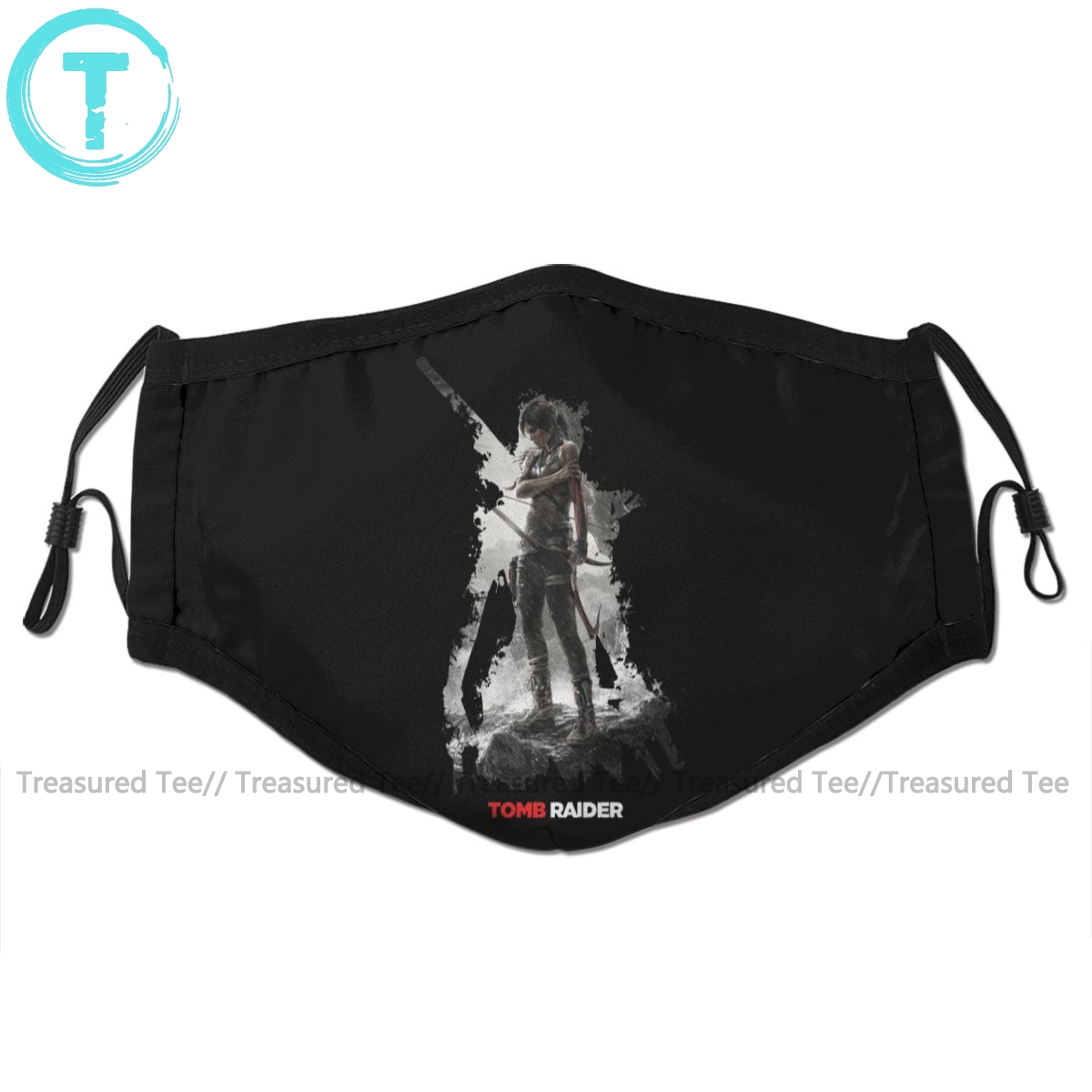 Tomb Raider Mouth Face Mask Tomb Raider Survivor Is Born Facial Mask Fashion Cool With 2 Filters For Adult