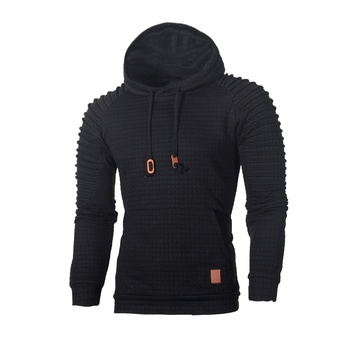 2020 Sweater Men Solid Pullovers Casual Fashion Mens Sweater Hooded Sweater Autumn Winter Warm PullFemme Slim Fit Jumpers 1