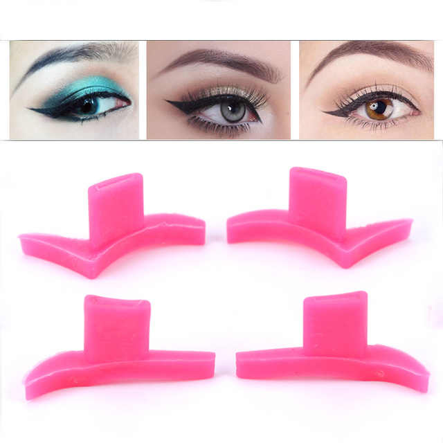 2PCS/1 Pair Eyeliner Template Fashion Style Mold Professional Makeup Winged Cat Eyeliner Template Makeup Tools