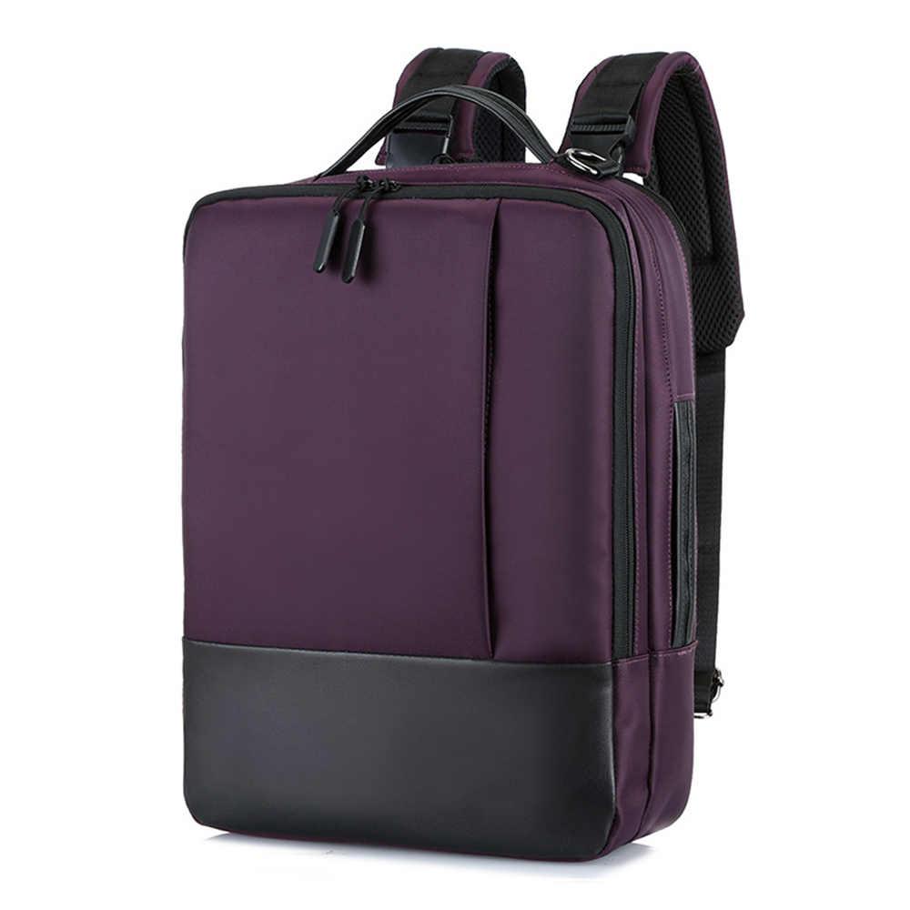 Moda Erkek Okul Ofis Dizüstü Çanta Yumuşak Naylon USB şarj portu Sırt Çantaları Su Geçirmez Fermuar, anti-hırsızlık rahat sırt çantası
