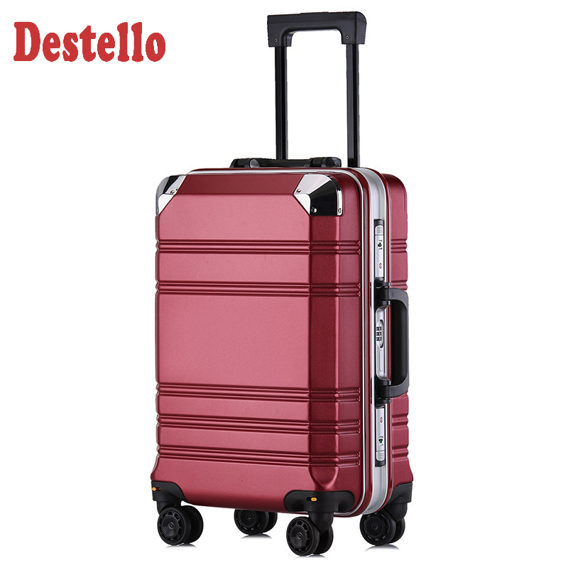 New 20' Aluminum-framed PC Luggage Case Business Men and Women Check-in Box Luggage for Travel Suitcase Burden Spinner Carry-ons