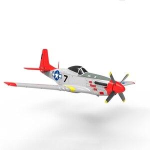 Volantex rc 768-1 mus & tang p51d 2.4ghz 6ch 750mm 29.5 em vermelho wingspan epo warbird rc avião rtf & 7040 hélice crianças brinquedos