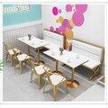 Combinaison de Table et de chaise de canapé de siège de carte dans le magasin de thé de lait