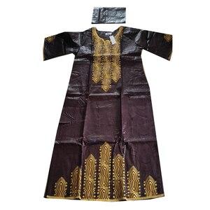 Image 2 - MD 2020 여성을위한 새 드레스 아프리카 롱 드레스 bazin dashiki 의류 웨딩 파티 드레스 전통 플러스 사이즈 복장