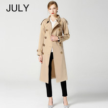 2019 Autumn Winter British New Design B Brand Trench Waterproof Elegant Vintage Classic Plaid Womens Long Coat