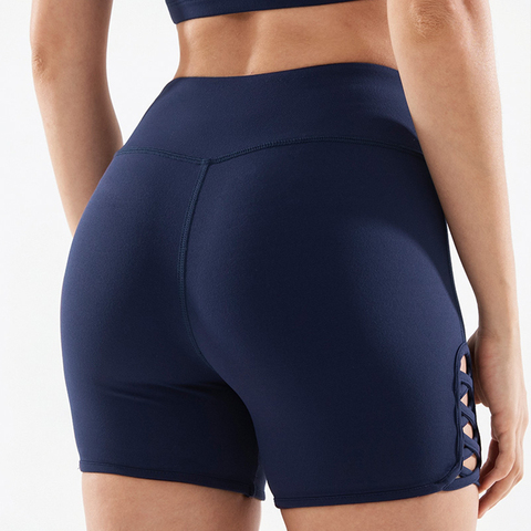 COPOZZ Spandex Sexy Fitness Jogger Shorts Womens High Waist Yoga Sport Workout Shorts Tummy Control Seamless Gym Athletic Shorts Lahore