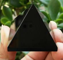 Doğal obsidyen kuvars kristal piramit şifa