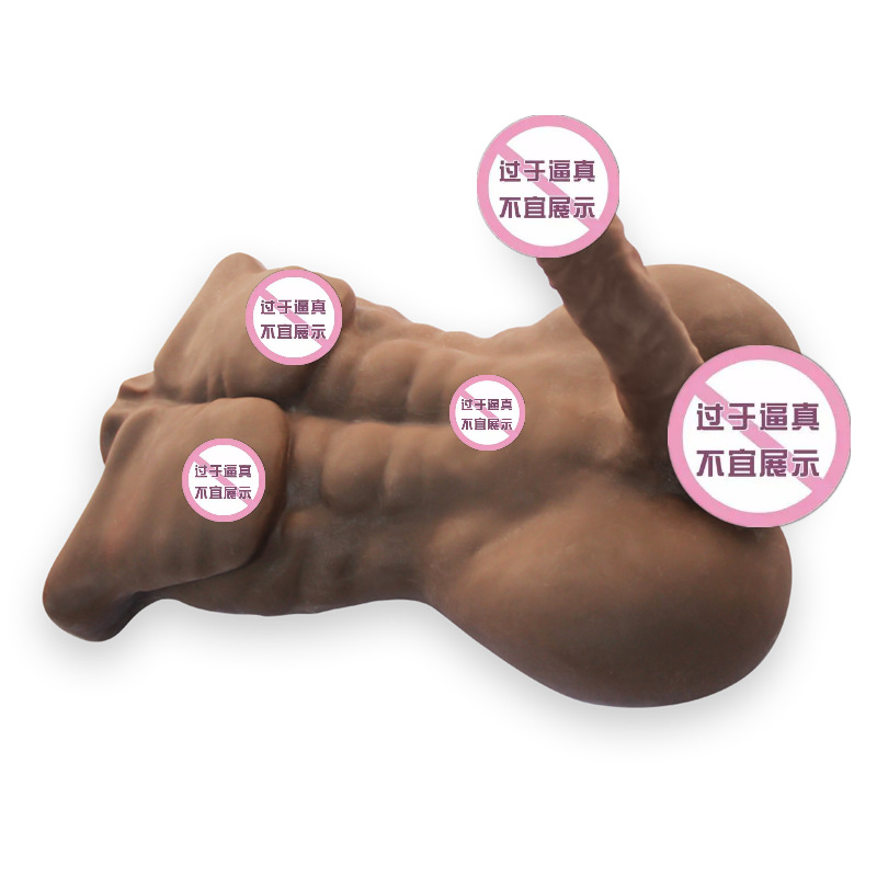 Realistic Full Silicone 3D <font><b>Torso</b></font> <font><b>Sex</b></font> <font><b>Doll</b></font> For Women With Male Big Penis Anal Adult Toys For Men Women Gay Lesbian image