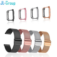 20mm Strap For Amazfit Bip S Lite GTS Band With Case Metal Bracelet Xiaomi Bip Film Screen Protector For Watchband Accessories 1