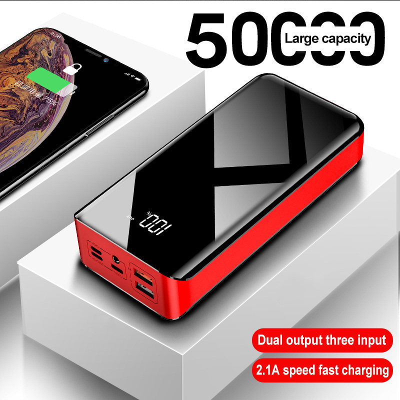 50000mAh Mobile Power Large Capacity Portable Two-way Fast Charge For Huawei Xiaomi Mobile Phone Mobile Power