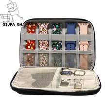 For apple Watchband Travel Pouch box correas for Huawei watch Multifunction Portable Watch Strap Organizer Band Box Storage Bag