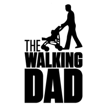 CS-1749# the walking dad reflective funny car sticker waterproof vinyl decal for auto car stickers styling removable car decor sports mind car covers reflective material car stickers decal car styling for peugeot 106 reflective sticker car accessories