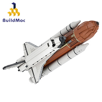 MOC Space Shuttle Launch Center (1:110 Scale) Model Building Blocks Spaceship Spaceport Figure Rocket Bricks Construction toys space station saturn v rocket building blocks city shuttle launch center atellite astronaut figure bricks set children toys gift