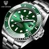 2021 LIGE New Watch Men Automatic Mechanical Tourbillon Clock Fashion Sport Diving Watch 100ATM Waterproof Luminous Watches Mens 1