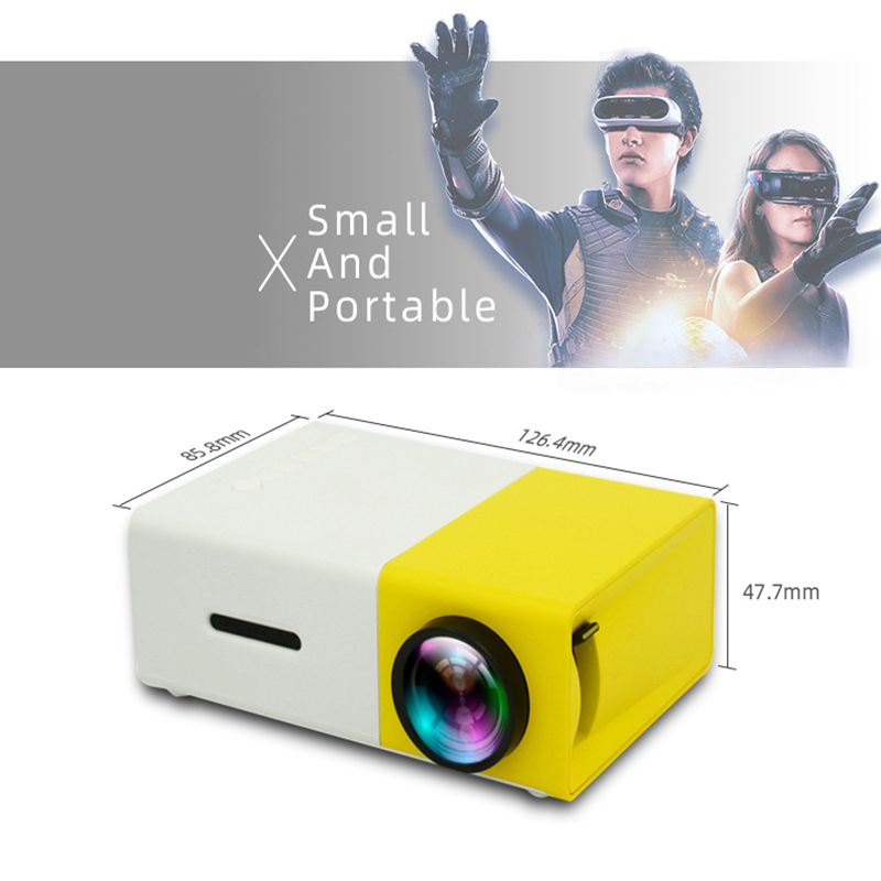 YG300 CE Certification Household HD Mini Projector LED Entertainment Portable 1080 High-definition Projector Video Home Cinema 2