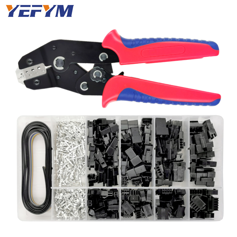 YEFYM SN-2549 Dupont Crimping Pliers 0.08-1mm2 With 590pcs/box SM2.54 Terminal Box Car Connector Cable Electrician Tools