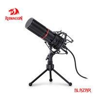 Redragon GM300 Blazar Metal USB-Kondensator-Aufnahme mikrofon stativ für Computer Cardioid Studio Aufnahme Gesang Stimme vorbei