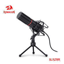 Redrogon GM300 Blazar En Métal USB Condenseur D'enregistrement Microphone Pour Ordinateur Cardioïde Studio Enregistrement Vocal Over