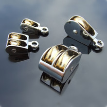 36/52/75mm Metal Sheave Zinc Alloy Fixed Pulley Crown Block And Tackle Lifting Wheel Mini Single/Double Pulley For DIY