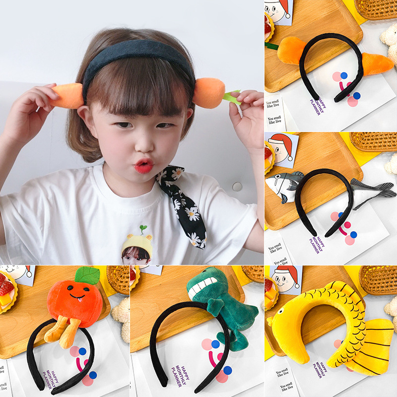 Милая забавная повязка для волос девочек мультяшная на голову