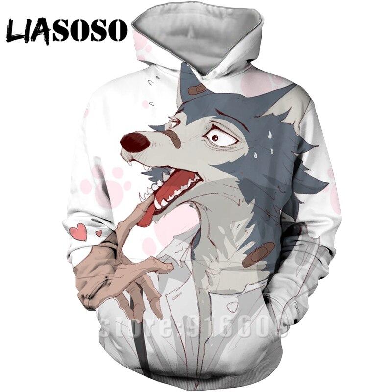3D Print BEASTARS Anime Horror Clothing Women Men Long Sleeve Hoodie Hoodies Sweatshirts Harajuku Sweat Homme Tracksuit Pullover