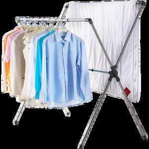 Сушилка для белья X-Shape Fold Clothes Quilt, подвесная сушилка, портативная вешалка для сушки воздуха, стойка для внутреннего и наружного использовани...