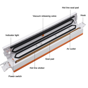 Image 3 - Máquina seladora de alimentos a vácuo, 220v/110v máquina de selo a vácuo seladora de filme para comida inclui 15 peças empacotador