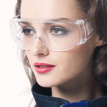 Okulary ochronne ochrona oczu okulary przeciwpyłowe okulary przezroczyste okulary chemiczne Gafas Proteccion tanie i dobre opinie Owalne X7131-1C Z tworzywa sztucznego