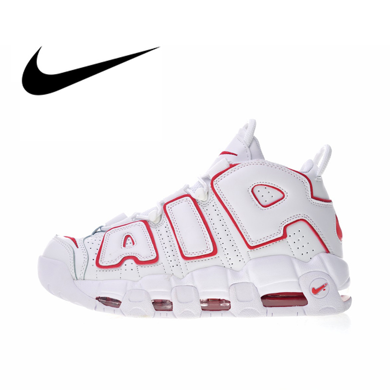 Original Authentic Nike Air More Uptempo Men's Basketball Shoes Outdoor Sneakers Top Quality Athletic Designer Footwear 414962 image