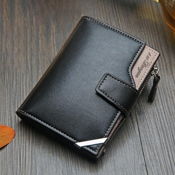 Casual men's wallet Short vertical  1