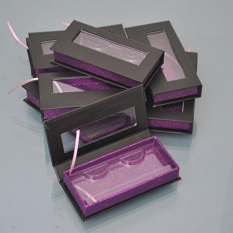 Caixas de Embalagem Caixa de Embalagem por Atacado Etiqueta do Logotipo Pestanas Falsas Lash Personalizado Falso 25mm Mink Cílios Tiras Magnéticas Cases Vazio