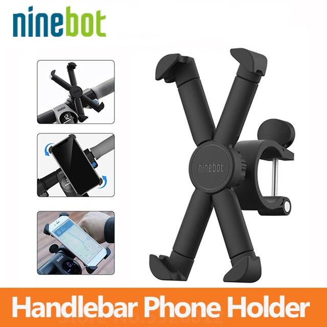 Ninebot バイクハンドルバー電話ホルダー 360 度回転携帯電話ブラケット GPS ホルダー用スクーター