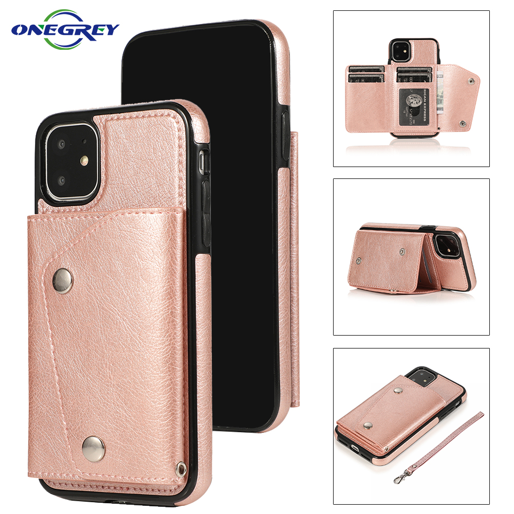 Luxury Leather Case For iPhone 12 Mini 11 Pro XS Max X XR 6 6s 7 8 Plus Flip Wallet Card Holder Cover Protection Phone Bag Coque