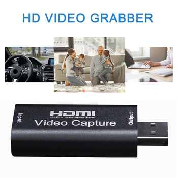 1080P HDMI To USB 2.0 HD Video Audio Capture Card Standard AWG26 Cable Support Windows Android and MacOS For Teaching Recording 1